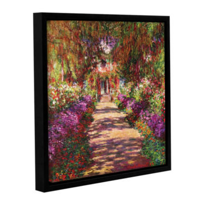 Brushstone A Pathway in Monet's Garden Gallery Wrapped Floater-Framed Canvas Wall Art