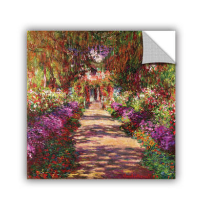 Brushstone A Pathway in Monet's Garden Removable Wall Decal