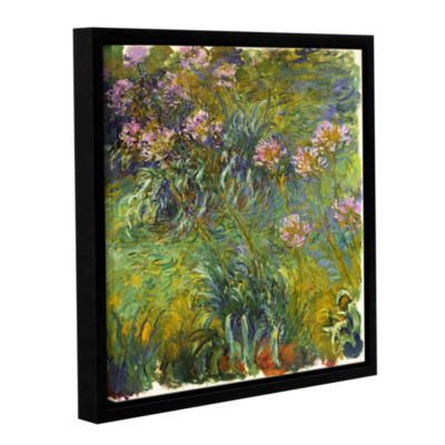 Brushstone Agapanthus; 1914-26 Gallery Wrapped Floater-Framed Canvas Wall Art
