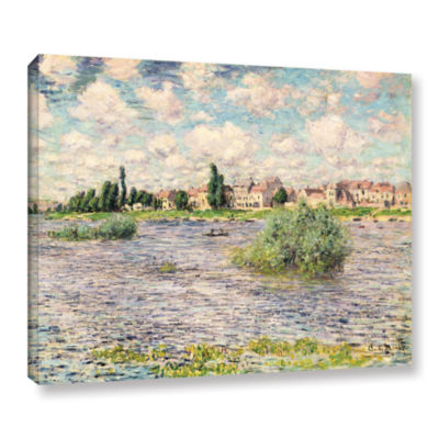 Brushstone Seine At Lavacourt Gallery Wrapped Canvas Wall Art