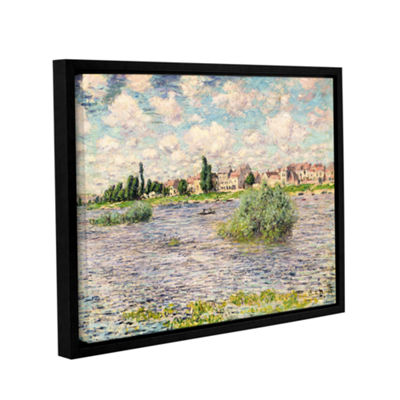 Brushstone Seine At Lavacourt Gallery Wrapped Floater-Framed Canvas Wall Art