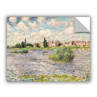 Brushstone Seine At Lavacourt Removable Wall Decal