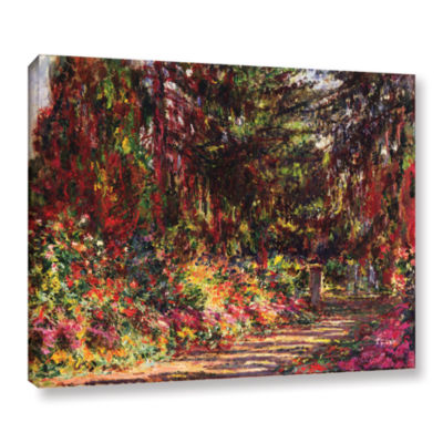 Brushstone The Garden Path At Giverny; 1902 Gallery Wrapped Canvas Wall Art