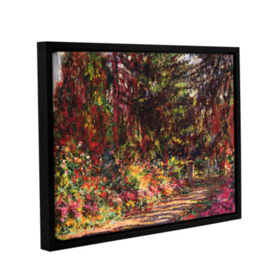 Brushstone The Garden Path At Giverny; 1902 Gallery Wrapped Floater-Framed Canvas Wall Art
