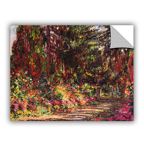 Brushstone The Garden Path At Giverny; 1902 Removable Wall Decal
