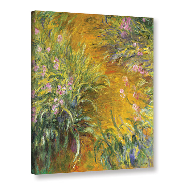 Brushstone The Path Through The Irises; 1914-17 Gallery Wrapped Canvas Wall Art