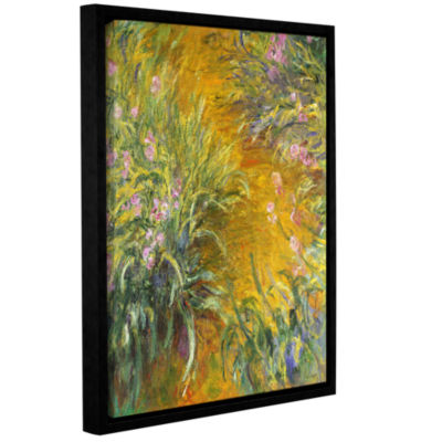 Brushstone The Path Through The Irises; 1914-17 Gallery Wrapped Floater-Framed Canvas Wall Art