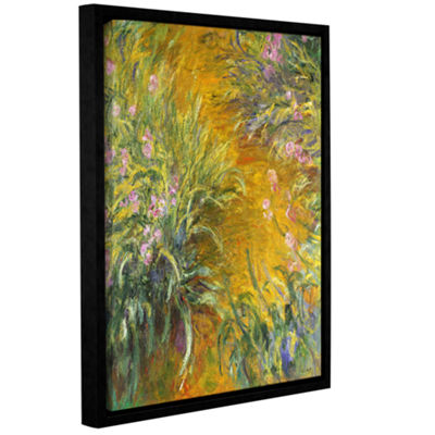 Brushstone The Path Through The Irises 1914-17 Gallery Wrapped Floater-Framed Canvas Wall Art