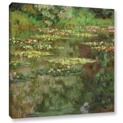 Brushstone The Water Lily Pond (Nymoheas) 1904 Gallery Wrapped Canvas Wall Art