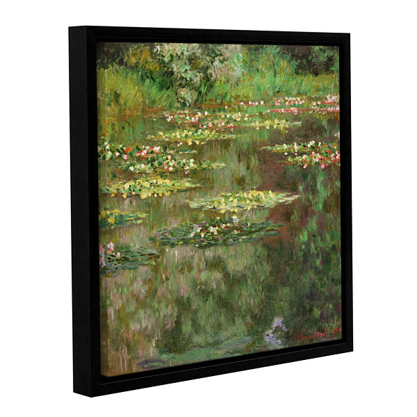 Brushstone The Water Lily Pond (Nymoheas) 1904 Gallery Wrapped Floater-Framed Canvas Wall Art