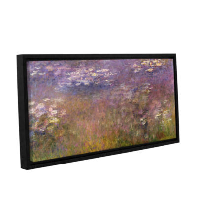 Brushstone Water Lilies (Agapanthus) 1915-26 Gallery Wrapped Floater-Framed Canvas Wall Art