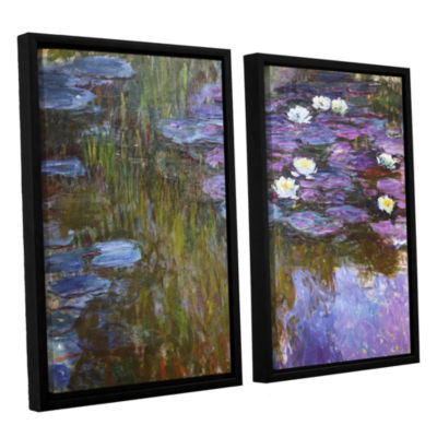 Brushstone Water Lilies; 1919-20 2-pc. Floater Framed Canvas Wall Art
