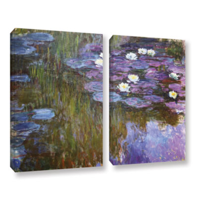 Brushstone Water Lilies; 1919-20 2-pc. Gallery Wrapped Canvas Wall Art