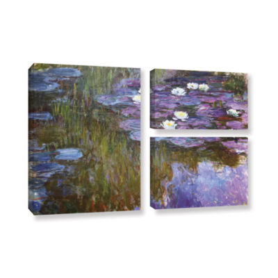 Brushstone Water Lilies; 1919-20 3-pc. Flag Gallery Wrapped Canvas Wall Art
