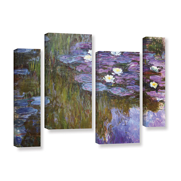 Brushstone Water Lilies 1919-20 4-pc. Gallery Wrapped Staggered Canvas Wall Art