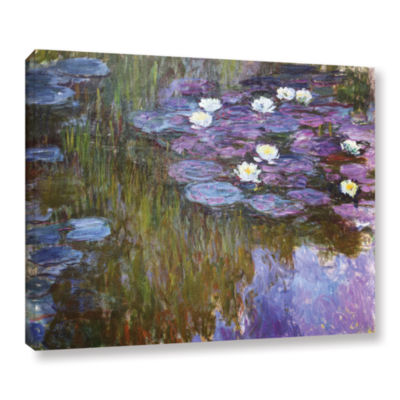 Brushstone Water Lilies 1919-20 Gallery Wrapped Canvas Wall Art