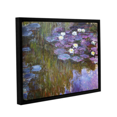 Brushstone Water Lilies; 1919-20 Gallery Wrapped Floater-Framed Canvas Wall Art