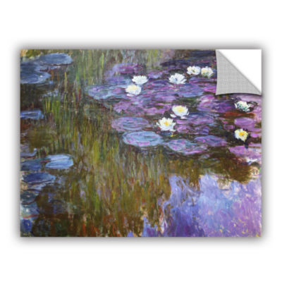 Brushstone Water Lilies; 1919-20 Removable Wall Decal