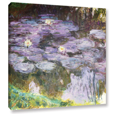 Brushstone Waterlilies; 1917 Gallery Wrapped Canvas Wall Art