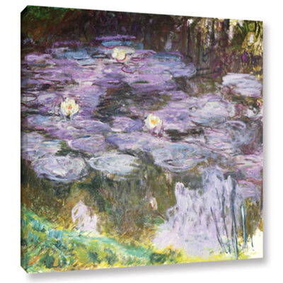 Brushstone Waterlilies 1917 Gallery Wrapped CanvasWall Art