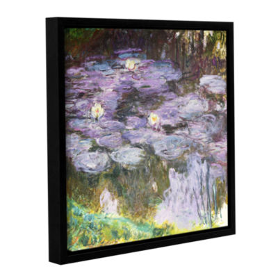 Brushstone Waterlilies; 1917 Gallery Wrapped Floater-Framed Canvas Wall Art