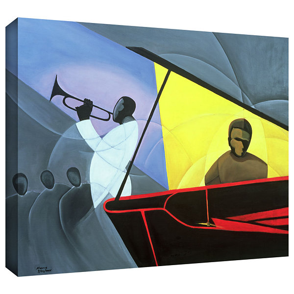 Brushstone Hot and Cold Jazz; 2004 Gallery WrappedCanvas Wall Art