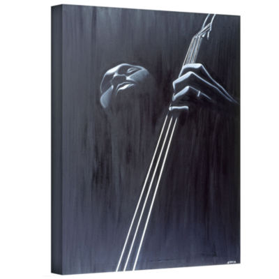 Brushstone In a Groove Gallery Wrapped Canvas WallArt