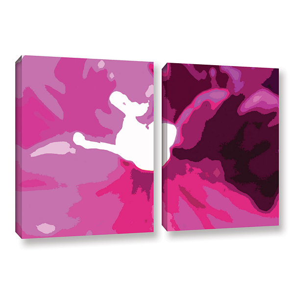 Brushstone Raspberry Crush 2-pc. Gallery Wrapped Canvas Wall Art