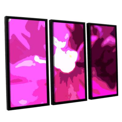 Brushstone Raspberry Crush 3-pc. Floater Framed Canvas Wall Art