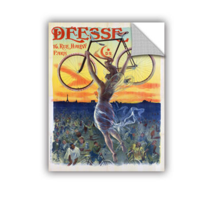 Brushstone Vintage French Poster Of A Goddess WithA Bicycle; c.1898 Removable Wall Decal