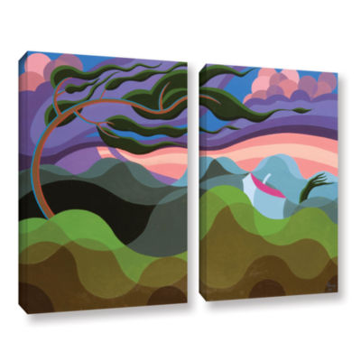 Brushstone Tempest 1990b 2-pc. Gallery Wrapped Canvas Wall Art