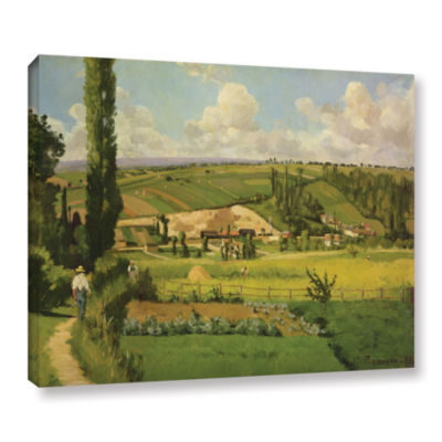 Brushstone Paysage Aux Patis; Pointoise; 1868 Gallery Wrapped Canvas Wall Art