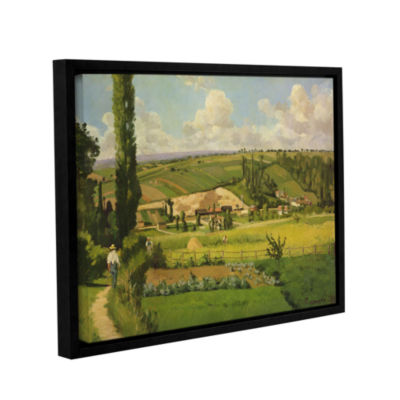 Brushstone Paysage Aux Patis; Pointoise; 1868 Gallery Wrapped Floater-Framed Canvas Wall Art