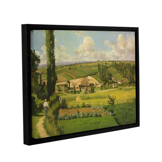 Brushstone Paysage Aux Patis Pointoise 1868 Gallery Wrapped Floater-Framed Canvas Wall Art