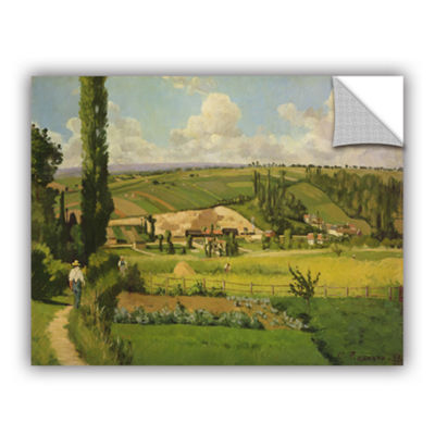 Brushstone Paysage Aux Patis Pointoise 1868 Removable Wall Decal