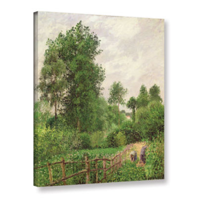 Brushstone Paysage Temps Gris A Eragny 1899 Gallery Wrapped Canvas Wall Art