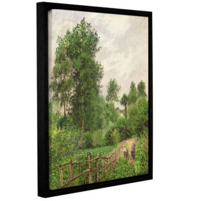 Brushstone Paysage Temps Gris A Eragny 1899 Gallery Wrapped Floater-Framed Canvas Wall Art