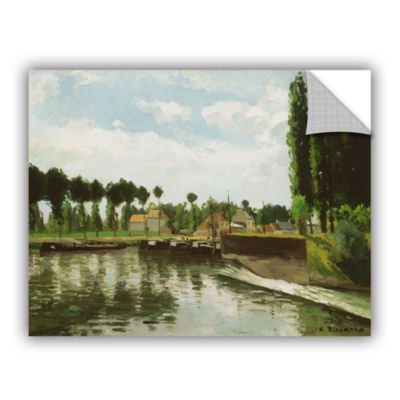 Brushstone The Lock At Pointoise; 1869 Removable Wall Decal