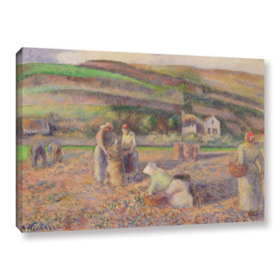 Brushstone The Potato Harvest; 1886 Gallery Wrapped Canvas Wall Art