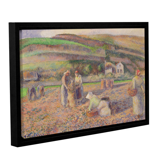 Brushstone The Potato Harvest; 1886 Gallery Wrapped Floater-Framed Canvas Wall Art