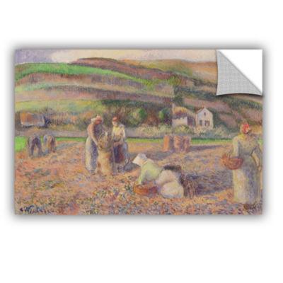 Brushstone The Potato Harvest; 1886 Removable WallDecal