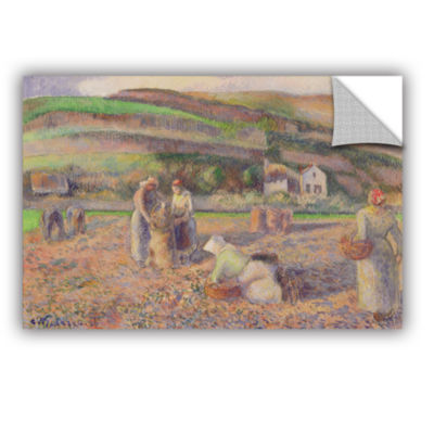 Brushstone The Potato Harvest; 1886 Removable WallDecal