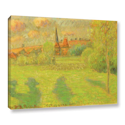 Brushstone The Shepard And The Church Of Eragny 1889 Gallery Wrapped Canvas Wall Art