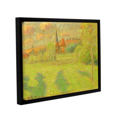 Brushstone The Shepard And The Church Of Eragny; 1889 Gallery Wrapped Floater-Framed Canvas Wall Art