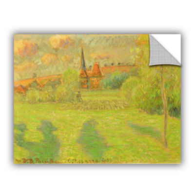 Brushstone The Shepard And The Church Of Eragny; 1889 Removable Wall Decal