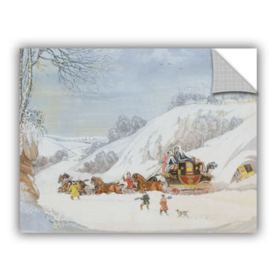 Brushstone A Mail In Deep Snow; Engraved By GeorgeHunt Removable Wall Decal