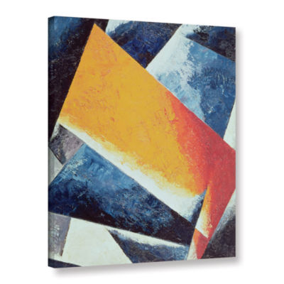 Brushstone Architectonic Composition Gallery Wrapped Canvas Wall Art