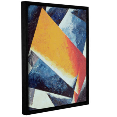 Brushstone Architectonic Composition Gallery Wrapped Floater-Framed Canvas Wall Art