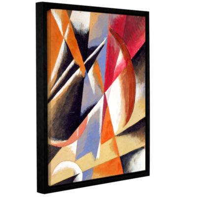 Brushstone Composition; c.1920 Gallery Wrapped Floater-Framed Canvas Wall Art