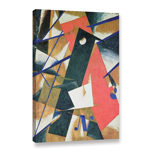 Brushstone Spatial Force Construction; 1912 Gallery Wrapped Canvas Wall Art